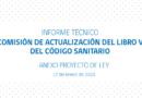 NOVEDADES SOBRE ACTUALIZACIÓN DEL LIBRO V DEL CÓDIGO SANITARIO